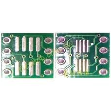 SOP8 / SSOP8 / TSSOP8 轉 DIP8 腳距 0.65mm / 1.27mm 二合一雙面轉接板