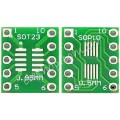 SOT23 / MSOP10 轉 DIP10 二合一雙面轉接板