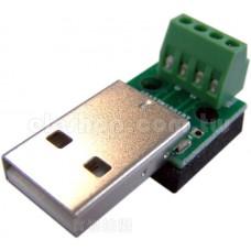USB A 2.0 公頭轉端子台