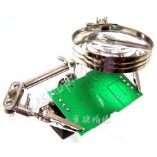 烙鐵架放大鏡,焊接輔助夾座維修工具焊台