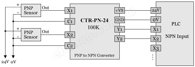 转 npn,输入/输出电气隔离 输入信号 24v pnp 输出信号 24v npn(plc)